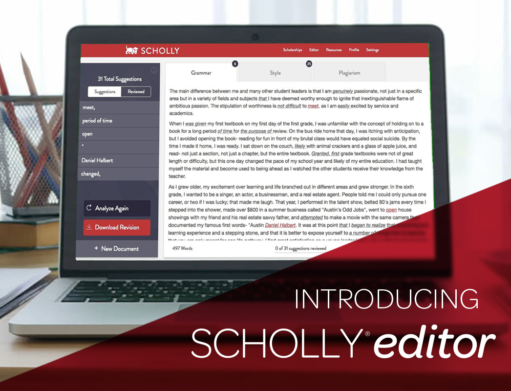 Introducing Scholly Editor